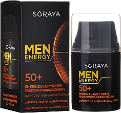 Düfte, Parfümerie und Kosmetik Pflegende und regenerierende Anti-Falten Gesichtscreme für Männer 50+ - Soraya Men Energy