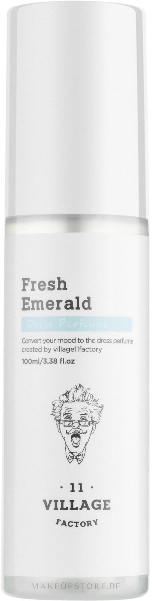 Village 11 Factory Dress Perfume Fresh Emerald - Parfümierter Textilerfrischer Fresh Emerald  — Bild 100 ml