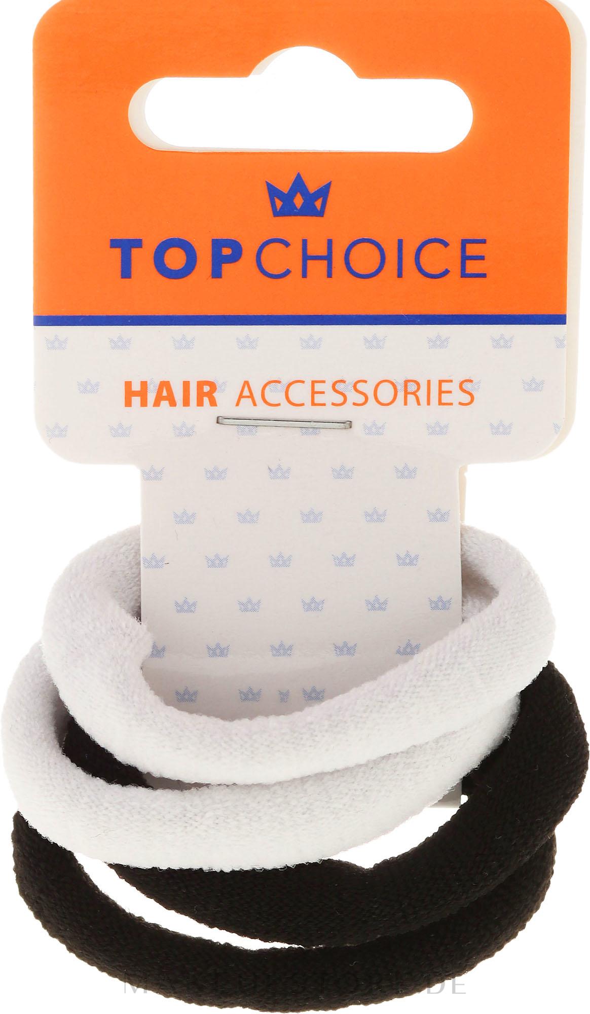 Haargummis schwarz-weiß 4 St. - Top Choice — Bild 4 St.