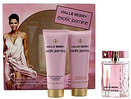 Düfte, Parfümerie und Kosmetik Halle Berry Exotic Jasmine - Duftset (Eau de Parfum 30ml + Körperlotion 75ml + Duschgel 75ml)