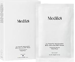 Düfte, Parfümerie und Kosmetik Beruhigende, nährende und feuchtigkeitspendende Tuchmaske mit Mineralien und Hyaluronsäure - Medik8 Ultimate Recovery Bio-Cellulose Mask