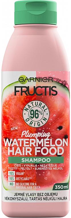 Shampoo mit Wassermelone - Garnier Fructis Hair Food Plumping Watermelon Shampoo — Bild N1