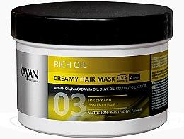Düfte, Parfümerie und Kosmetik Haarcreme-Maske für trockenes und geschädigtes Haar - Kayan Professional Rich Oil Creamy Hair Mask