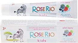 Fluoridfreie Kinderzahnpasta 3+ Jahre mit Himbeergeschmack - Rose Rio Kids Toothpast — Bild N1