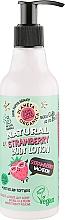 Düfte, Parfümerie und Kosmetik Feuchtigkeitsspendende und aufweichende Körperlotion Strawberry Vacation - Planeta Organica Natural Body Lotion Strawberry Vacation
