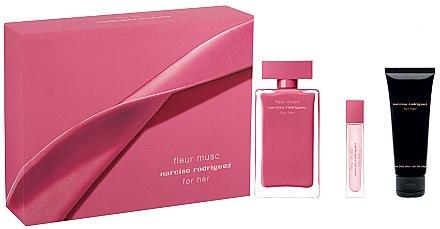 Narciso Rodriguez Fleur Musc - Duftset (Eau de Parfum/100ml + Eau de Parfum/10ml +Körperlotion/75ml) — Bild N1