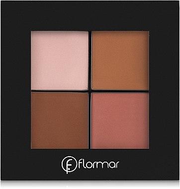 Highlighter Gesichtspalette - Flormar Contour Palette — Bild N1