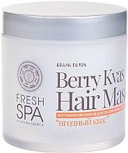 Düfte, Parfümerie und Kosmetik Vitaminmaske für dünnes und feines Haar - Natura Siberica Fresh Spa Russkaja Bania Detox Berry Kvas Hair Mask