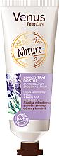 Düfte, Parfümerie und Kosmetik Feuchtigkeitsspendendes und aufweichendes Fußkonzentrat gegen Hühneraugen und Hornhaut mit Vitamin E, Lavendel- und Pfefferminzöl - Venus Nature Foot