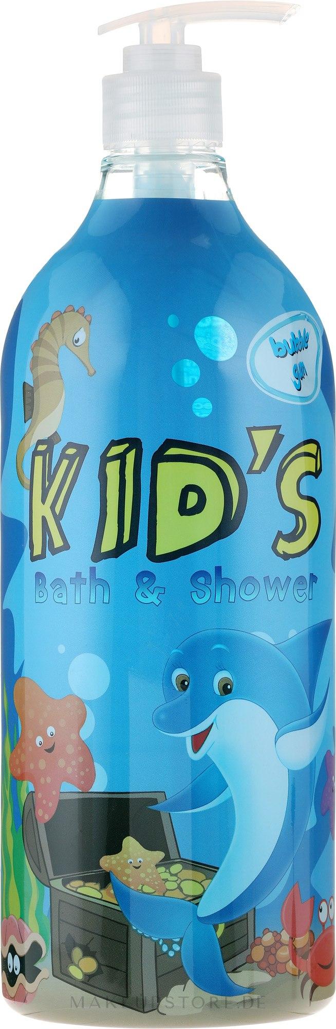2in1 Bade- und Duschgel für Kinder mit Kaugummiduft - Hegron Kid's Bubble Gum Bath & Shower — Bild 1000 ml