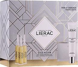 Düfte, Parfümerie und Kosmetik Gesichtspflegeset - Lierac Cica-Filler (Gesichtsserum 30ml + Gesichtscreme 40ml + Kosmetiktasche)