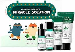 Düfte, Parfümerie und Kosmetik Gesichtspflegeset - Some By Mi AHA BHA PHA 30 Days Miracle Solution 4 Step Kit (Sonnenschutz-Creme 25ml + Gesichtstonikum 30ml + Gesichtsserum 10ml + Gesichtscreme 20g)