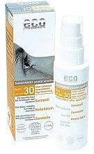 Düfte, Parfümerie und Kosmetik Transparentes Sonnenschutzöl-Spray für das Gesicht mit Granatapfel- und Sanddornöl SPF 30 - Eco Cosmetics Sun Oil SPF 30
