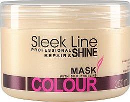 Düfte, Parfümerie und Kosmetik Haarmaske für gefärbtes Haar mit Seidenproteinen - Stapiz Sleek Line Colour Hair Mask