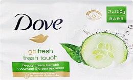 Düfte, Parfümerie und Kosmetik Cremeseife mit Gurke und grünem Tee - Dove Go Fresh Cream Bar With Cucumber & Green Tea Scent