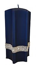 Düfte, Parfümerie und Kosmetik Dekorative Kerze Stern blau 9x18 cm - Artman Crystal Opal Pearl