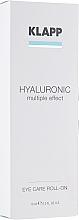 Düfte, Parfümerie und Kosmetik Augenkonturserum für Tag und Nacht mit Hyaluronsäure - Klapp Hyaluronic Eye Roll-On