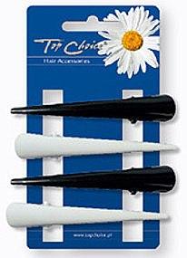 Haarspangen weiß-schwarz 4 St. - Top Choice — Bild N1