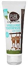 Düfte, Parfümerie und Kosmetik Fluoridfreie Kinderzahnpasta 3+ Jahre mit Vanille-Minze-Geschmack und Xylitol - Pure Beginnings Vanilla Mint Toothpaste