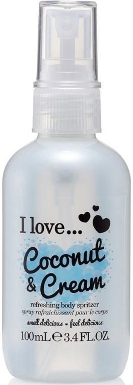 Erfrischendes Körperspray Coconut & Cream - I Love...Coconut & Cream Refreshing Body Spritzer — Bild N1