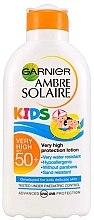 Düfte, Parfümerie und Kosmetik Feuchtigkeitsspendende Sonnenschutzlotion SPF 50+ - Garnier Ambre Solaire Resisto Kids SPF 50+