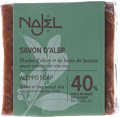 Aleppo-Seife mit 40% Lorbeeröl - Najel Aleppo Premium Soap 40% Bay Laurel Oil — Bild N1