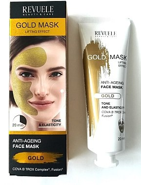 Gesichtsmaske - Revuele Gold Face Mask Lifting Effect Anti-Age — Bild N1