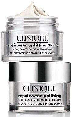 Intensiv festigende und straffende Anti-Aging Gesichtscreme für trockene, fettige und Mischhaut - Clinique Repairwear Uplifting Firming Cream SPF15 Skin Type 2 — Bild N2