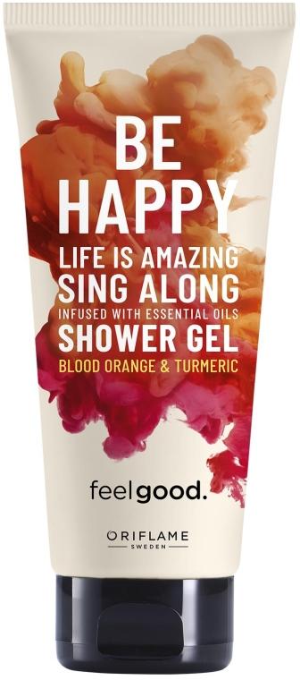 Erfrischendes Duschgel mit Blutorange und Kurkuma Duft - Oriflame Feel Good Be Happy — Bild N1