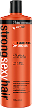 Reparierende Haarpflege mit Mangobutter und Aloe Vera für brüchiges und geschädigtes Haar - SexyHair StrongSexyHair Color Safe Strengthening Conditioner — Bild N3
