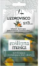 Düfte, Parfümerie und Kosmetik Feuchtigkeitsspendende Gesichtsmaske mit Sanddorn- und Kleeextrakt - Uzdrovisco Moisturizing Mask