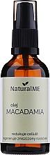 Düfte, Parfümerie und Kosmetik Natürliches raffiniertes Macadamiaöl gegen Cellulite und Dehnungsstreifen - NaturalME (mit Pumpenspender)