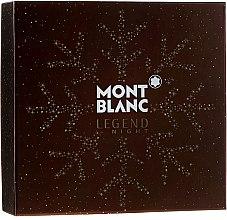 Düfte, Parfümerie und Kosmetik Montblanc Legend Night - Duftset (Eau de Parfum 100ml + After Shave Balsam 100ml +Duschgel 100ml)