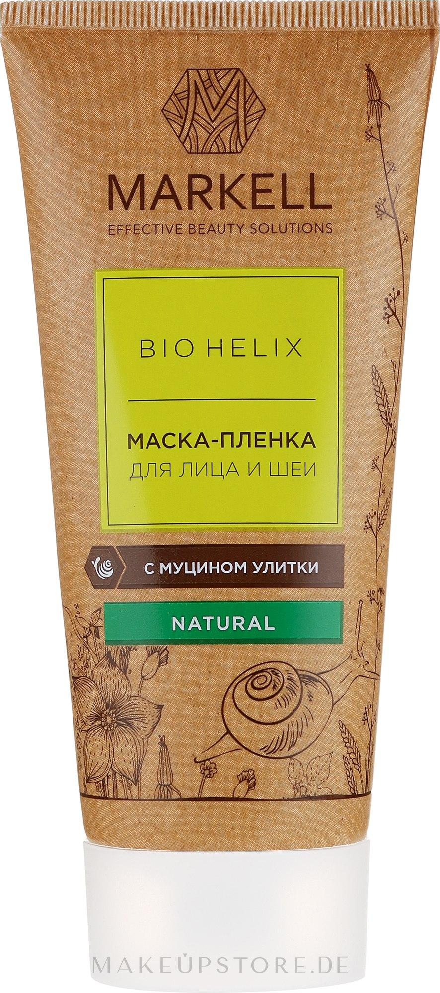 Peel-Off-Maske für das Gesicht mit Schneckenmucinextrakt - Markell Cosmetics Mask — Bild 100 ml