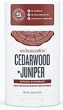 Düfte, Parfümerie und Kosmetik Natürlicher Deostick - Schmidt's Deodorant Cedarwood Juniper