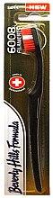 Düfte, Parfümerie und Kosmetik Zahnbürste weich 6008 Filaments schwarz-rot - Beverly Hills Formula 6008 Filament Multi-Colour Toothbrush