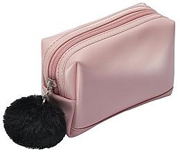 Düfte, Parfümerie und Kosmetik Rosa Kosmetiktasche mit schwarzem Pompon - Avon