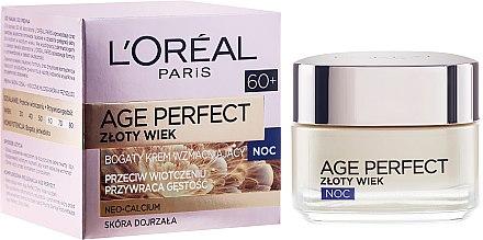 Stärkende Anti-Aging Nachtcreme - L'Oreal Paris Age Perfect Neo-Calcium Night Cream 60+ — Bild N1