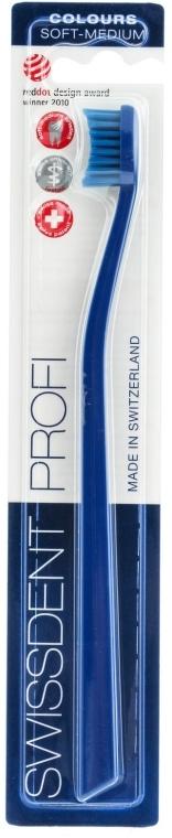 Zahnbürste mittel Profi Colours blau - SWISSDENT Profi Colours Soft-Medium Toothbrush Blue&Blue — Bild N1