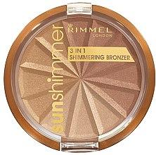 Düfte, Parfümerie und Kosmetik Gesichtspuder - Rimmel Sunshimmer 3in1 Shimmering Bronzing Powder
