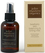Düfte, Parfümerie und Kosmetik Balancierender Gesichtsnebel mit Bärentraube - John Masters Organics Bearberry Oily Skin Balancing & Toning Mist