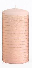 Düfte, Parfümerie und Kosmetik Dekorative Kerze rosa-gold 7x14 cm - Artman Andalo