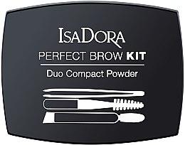 Düfte, Parfümerie und Kosmetik Augenbrauen-Set - IsaDora Perfect Brow Kit Duo Compact Powder