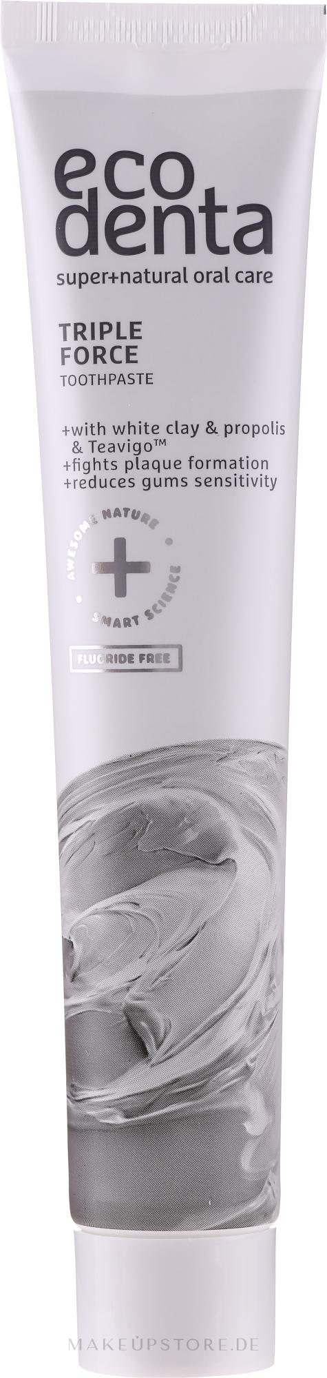 Zahnpasta mit weißem Ton, Propolis und Teavigo - Ecodenta Extra Toothpaste — Bild 75 ml