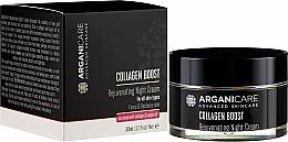 Düfte, Parfümerie und Kosmetik Verjüngende Nachtcreme mit Kollagen und Arganöl - Arganicare Collagen Boost Rejuvenating Night Cream