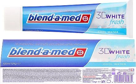 Zahnpasta 3D White Fresh Cool Water - Blend-a-med 3D White Fresh Cool Water Toothpaste — Bild N1