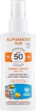 Düfte, Parfümerie und Kosmetik Bio Sonnenschutzspray für Gesicht und Körper SPF 50 - Alphanova Sun Bio SPF50 Spray Voyage