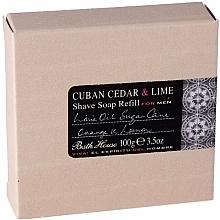 Düfte, Parfümerie und Kosmetik Bath House Cuban Cedar & Lime - Rasierseife mit Rohrzucker, Limetten-, Orangen- und Zitronenöl (Refill)