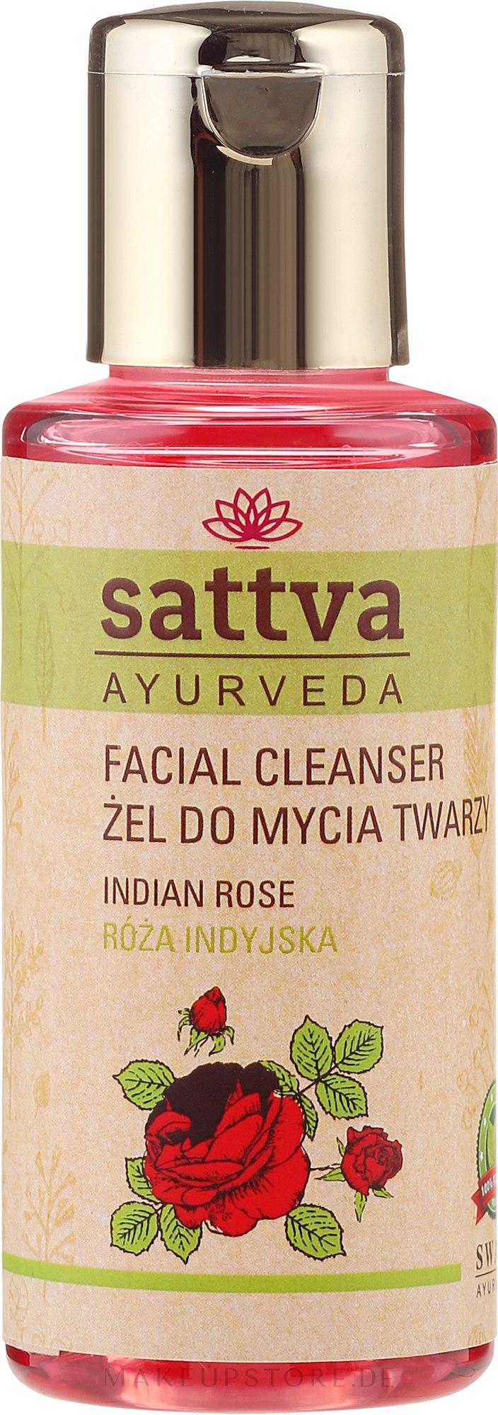 Gesichtsreinigungsgel - Sattva Facial Cleanser Rose — Bild 100 ml