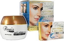 Düfte, Parfümerie und Kosmetik Gesichtspflegeset - Hemani Fleurs Anti Wrinkle Set (Anti-Falten Gesichtscreme 80ml + Seife 30ml)
